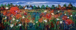 Poppies in the Barley, Ballancrieff by Lynn Rodgie -  sized 40x16 inches. Available from Whitewall Galleries
